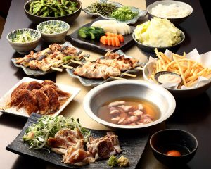とりいちず 鷺沼店の鶏料理を満喫できる〈食べ放題×飲み放題コース〉